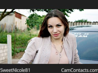 Webcam model SweetNicole81 from CamContacts