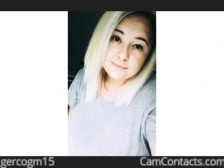 Webcam model gercogm15 from CamContacts