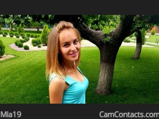 Webcam model Mia19 from CamContacts