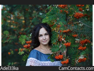 Webcam model Adel33ka from CamContacts
