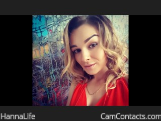 Webcam model HannaLife from CamContacts