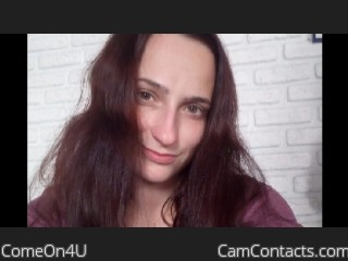Webcam model ComeOn4U from CamContacts