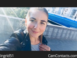 Webcam model Ingrid51 from CamContacts