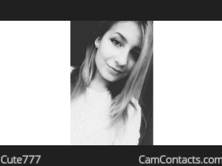 Webcam model Cute777 from CamContacts