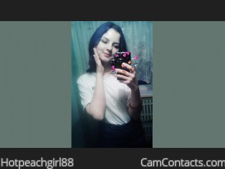 Webcam model Hotpeachgirl88 from CamContacts