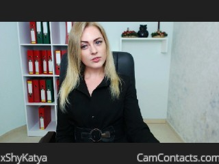 Webcam model xShyKatya from CamContacts