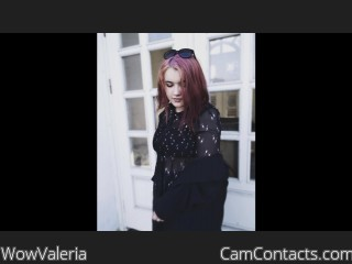 Webcam model WowValeria from CamContacts
