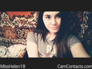 Webcam model MissHelen18 from CamContacts