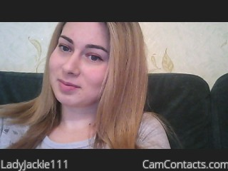 Webcam model LadyJackie111 from CamContacts