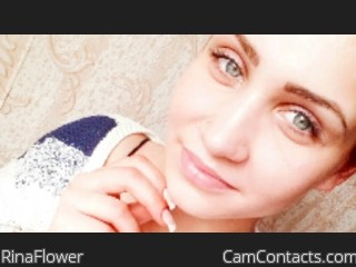 Webcam model RinaFlower from CamContacts