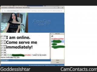 Webcam model GoddessIshtar from CamContacts
