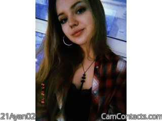 Webcam model 21Ayan02 from CamContacts