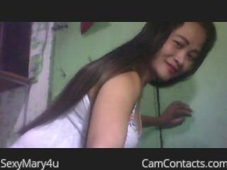 Webcam model SexyMary4u from CamContacts