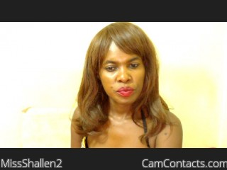 Webcam model MissShallen2 from CamContacts