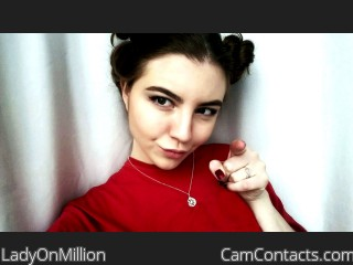 Webcam model LadyOnMillion from CamContacts