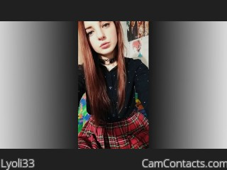 Webcam model Lyoli33 from CamContacts