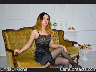 Webcam model LindaUrRicha from CamContacts