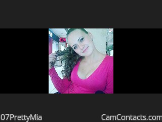 Webcam model 07PrettyMia from CamContacts