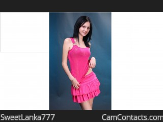 Webcam model SweetLanka777 from CamContacts
