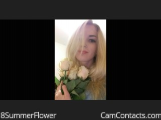 Webcam model 8SummerFlower from CamContacts