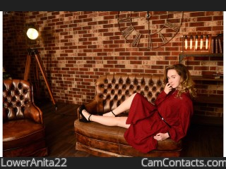Webcam model LowerAnita22 from CamContacts