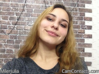 Start VIDEO CHAT with MilerJulia