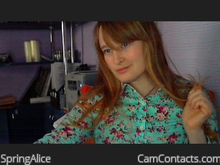 Webcam model SpringAlice from CamContacts