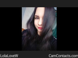 Webcam model LolaLoveW from CamContacts