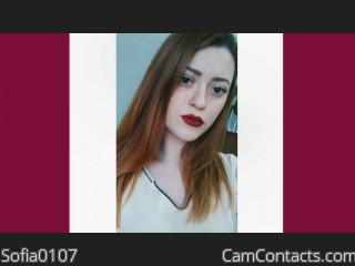 Webcam model Sofia0107 from CamContacts