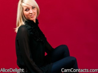 Webcam model AliceDelight from CamContacts
