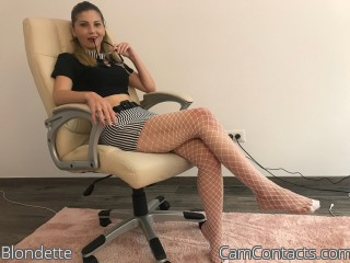 Webcam model Blondette from CamContacts