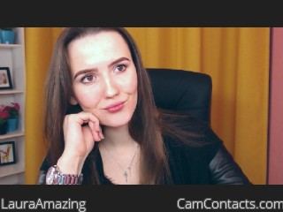 Webcam model LauraAmazing from CamContacts