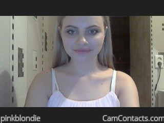 Webcam model pinkblondie from CamContacts