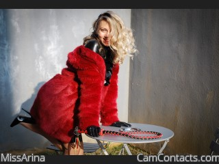 Webcam model MissArina from CamContacts