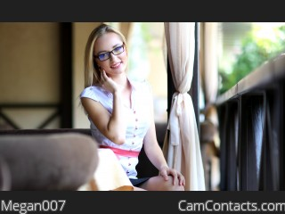 Webcam model Megan007 from CamContacts