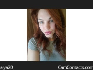 Webcam model alya20 from CamContacts