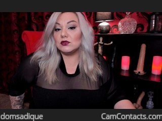 Webcam model domsadique from CamContacts
