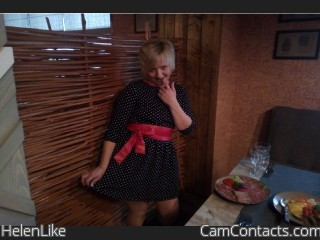 Webcam model HelenLike from CamContacts