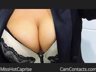 Webcam model MissHotCaprise from CamContacts