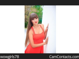 Webcam model wowgirls78 from CamContacts