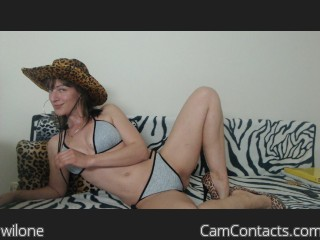 Webcam model wilone from CamContacts
