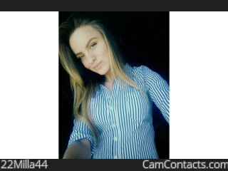Webcam model 22Milla44 from CamContacts
