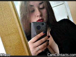 Webcam model 0Rose from CamContacts