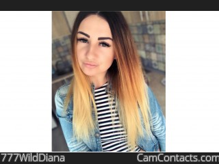Webcam model 777WildDiana from CamContacts
