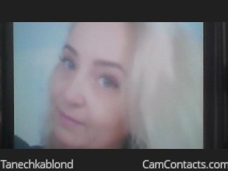 Webcam model Tanechkablond from CamContacts