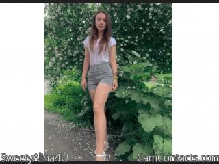 Webcam model SweetyAlina4U from CamContacts