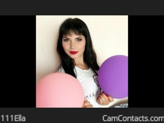 Webcam model 111Ella from CamContacts