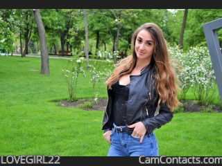 Webcam model LOVEGIRL22 from CamContacts