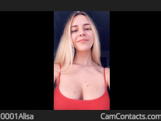 Webcam model 0001Alisa from CamContacts