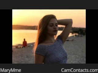 Webcam model MaryMme from CamContacts